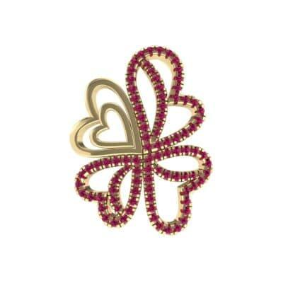 Clover Hearts Ruby Pendant (0.97 Carat)