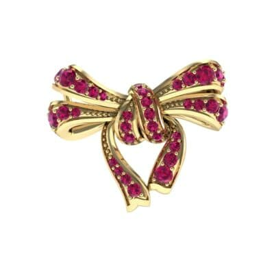 Romance Ruby Bow Pendant (0.93 Carat)