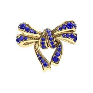 Romance Blue Sapphire Bow Pendant (0.93 Carat)