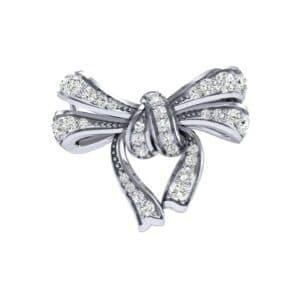 Romance Diamond Bow Pendant (0.35 Carat)
