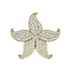 Pointed Flower Pave Diamond Pendant (1.95 Carat)