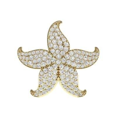 Pointed Flower Pave Diamond Pendant (1.95 Carat)