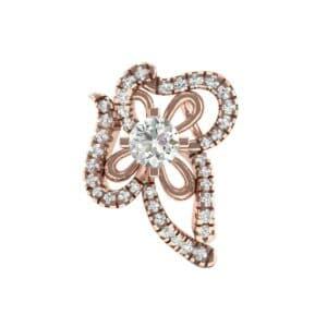 Petals Pave Diamond Pendant (0.57 Carat)
