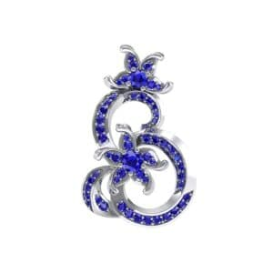 Plumeria Blue Sapphire Pendant (1.17 Carat)