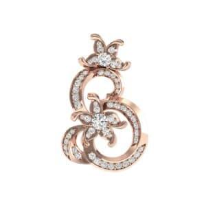 Plumeria Diamond Pendant (0.86 Carat)