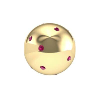 Bezel-Set Ruby Bead (0.2 Carat)