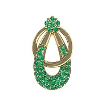 Double Hoop Emerald Pendant (0.56 Carat)