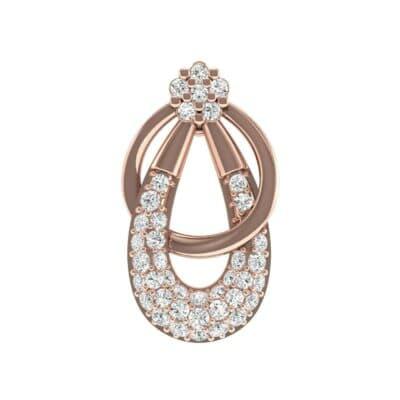 Double Hoop Diamond Pendant (0.44 Carat)
