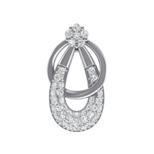 Double Hoop Diamond Pendant (0.44 Carat)