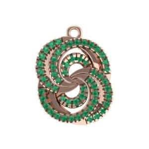 Micro-Pave Emerald Whirl Pendant (0.65 Carat)