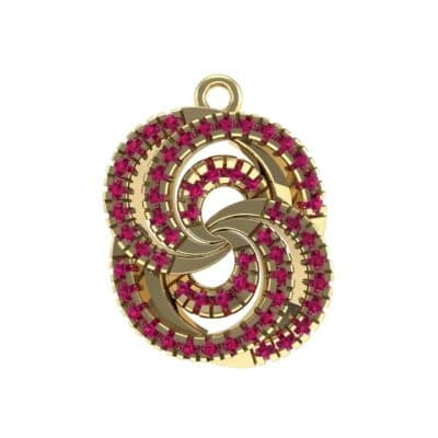 Micro-Pave Ruby Whirl Pendant (0.65 Carat)