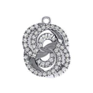 Micro-Pave Diamond Whirl Pendant (0.51 Carat)