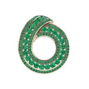 Painted Circle Emerald Pendant (4.22 Carat)
