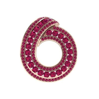 Painted Circle Ruby Pendant (4.22 Carat)