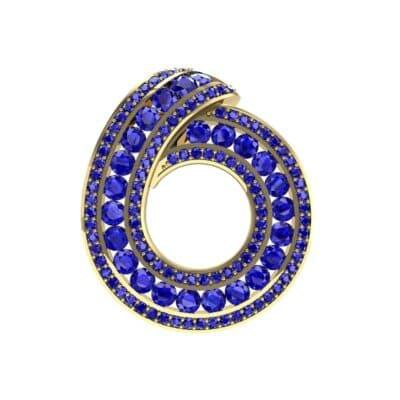 Painted Circle Blue Sapphire Pendant (4.22 Carat)