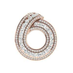 Painted Circle Diamond Pendant (3.23 Carat)