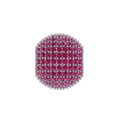 Full Pave Ruby Ball Charm (2.19 Carat)