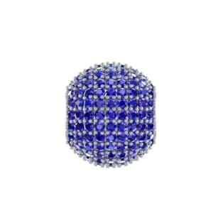 Full Pave Blue Sapphire Ball Charm (2.19 Carat)
