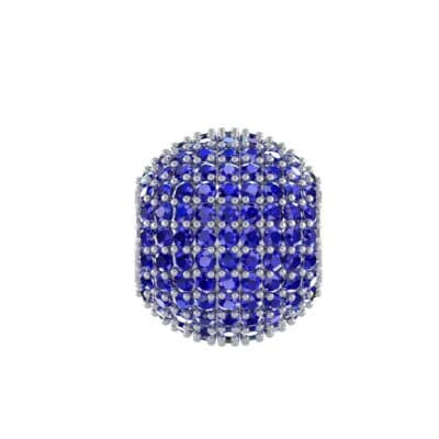 Full Pave Blue Sapphire Ball Charm (2.38 CTW) Perspective View