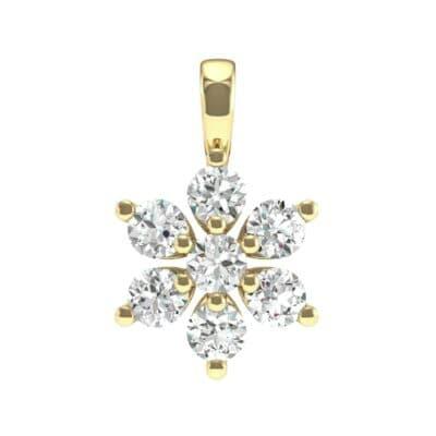Flower Diamond Cluster Pendant (0.39 Carat)