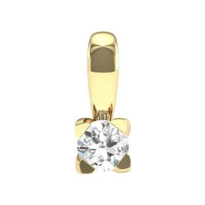 Compass Point Diamond Solitaire Pendant (0.15 Carat)