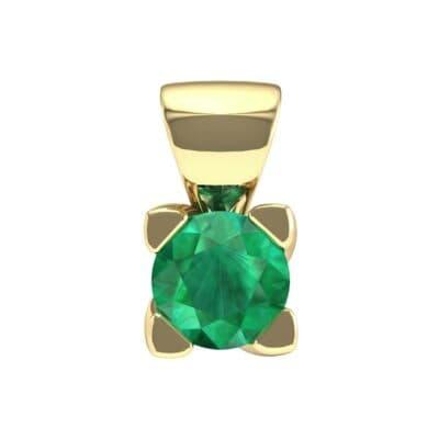 Petite Compass Point Emerald Solitaire Pendant (0.22 Carat)