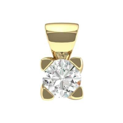 Petite Compass Point Diamond Solitaire Pendant (0.15 Carat)