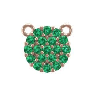 Pave Circle Emerald Pendant (0.38 Carat)