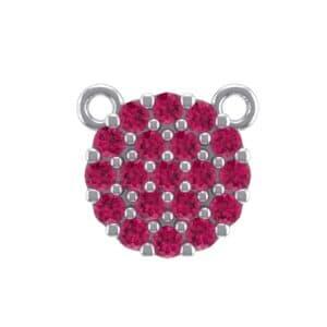 Pave Circle Ruby Pendant (0.38 Carat)