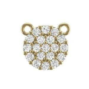 Pave Circle Diamond Pendant (0.31 Carat)