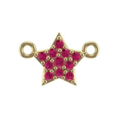 Pave Star Ruby Pendant (0.13 Carat)
