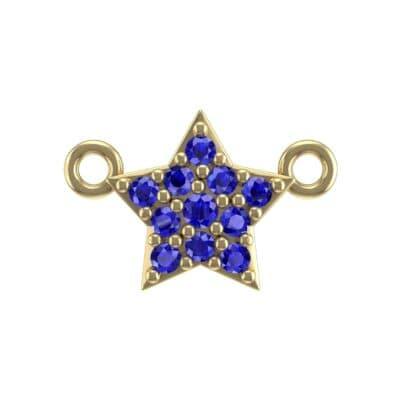 Pave Star Blue Sapphire Pendant (0.13 Carat)