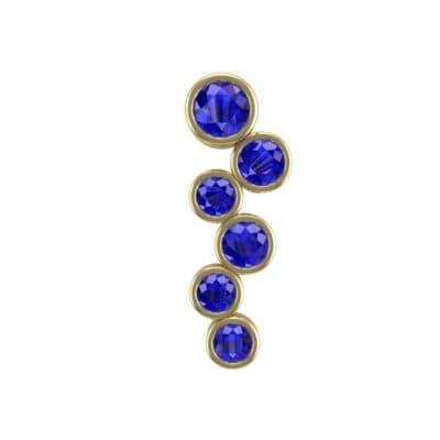 Bezel-Set Blue Sapphire Journey Pendant (0.88 Carat)