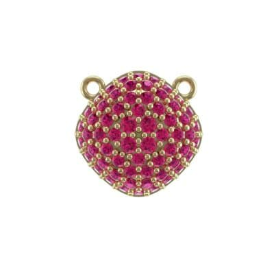 Pave Tilted Cushion Ruby Pendant (0.9 Carat)