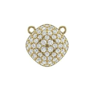 Pave Tilted Cushion Diamond Pendant (0.71 Carat)