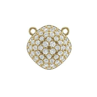 Pave Tilted Cushion Diamond Pendant (0.71 Carat)