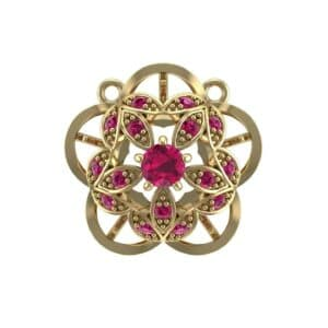 Cut Out Flower Ruby Pendant (0.49 Carat)
