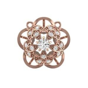Cut Out Flower Diamond Pendant (0.33 Carat)