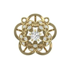 Cut Out Flower Diamond Pendant (0.33 Carat)