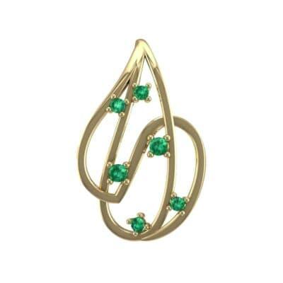 Swirl Prong-Set Emerald Pendant (0.28 Carat)