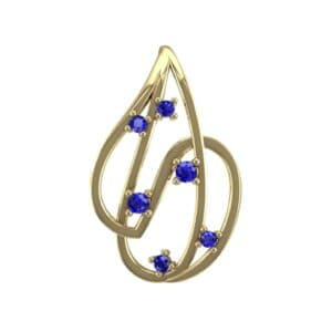 Swirl Prong-Set Blue Sapphire Pendant (0.28 Carat)