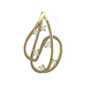 Swirl Prong-Set Diamond Pendant (0.14 Carat)