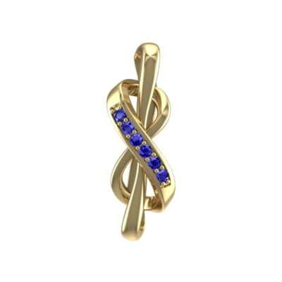 Infinity Twist Blue Sapphire Pendant (0.07 Carat)
