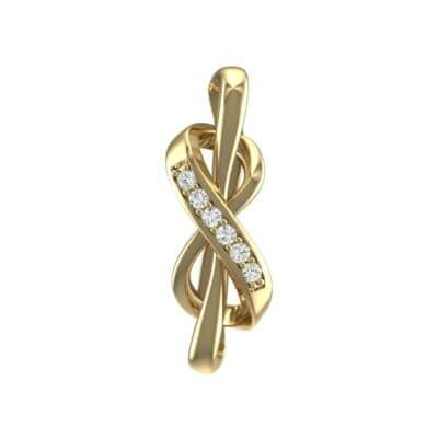 Infinity Twist Diamond Pendant (0.06 Carat)