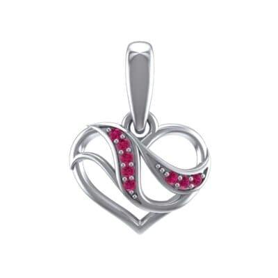 Flowing Heart Ruby Pendant (0.09 Carat)