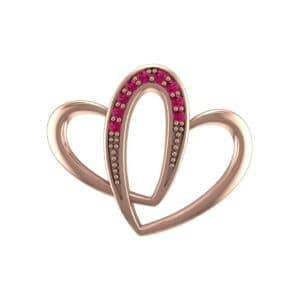 Interlocking Heart Ruby Pendant (0.1 Carat)