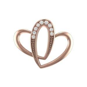 Interlocking Heart Diamond Pendant (0.07 Carat)