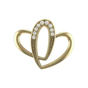 Interlocking Heart Diamond Pendant (0.07 Carat)
