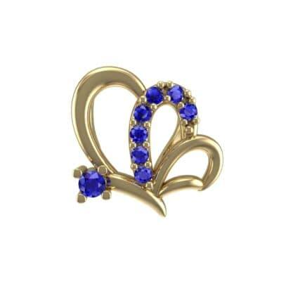 Butterfly Blue Sapphire Pendant (0.07 Carat)