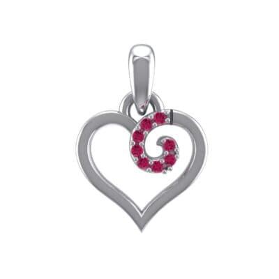 Swirl Heart Ruby Pendant (0.05 Carat)